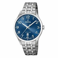 Festina Men's Titanium F20466-2F37 Blue Stainless-Steel Quartz Dress Watch