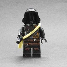 Custom Star Wars Saw Gerrera Bikerscout minifigures on lego bricks