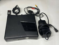 Microsoft Xbox 360 S Console Model 1439 W/ Power Supply & AV No Controller AS/IS