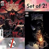 🚨🔥🕸 VENOM #30 SET OF 2 Main Cover & Stegman Variant Knull King In Black NM