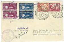 Germany 1934 Rocket Mail cover 2 Raketenstart 1 and 3 se-tenant label cover