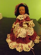 1988 Loretta Daum Byrne Native American Indian Doll with stand & crochet dress