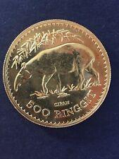 MALAYSIA. 1976 AV 500 Ringgit Gold (.900) Coin Malayan Tapir. KM 21 33.437g #1