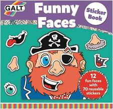 Galt FUNNY FACES STICKER BOOK Kids Art Craft Toy BN