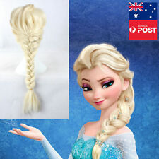 Frozen Elsa Wig Party Disney Costume Princess Ice Queen Wig Accessories Cosplay