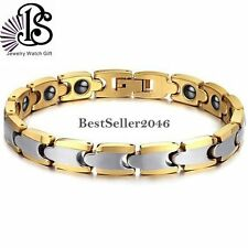 BS-8MM Men Women Heavy Anti-fatigue Health Magnetic Tungsten Cuff Bracelet 7.67""