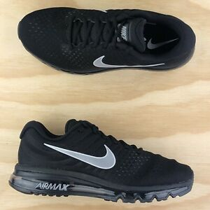 Nike Air Max 2017 Triple Black Anthracite White Running Shoes 849559-001 Size