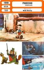 FICHE CINEMA : PINOCCHIO - Jones,Rub,Blanc,Walt Disney 1940