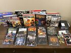 29 Vintage & Modern Computer Pc Games Cd-rom Video Games & 7 Strategy Guides