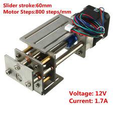 DIY 12V Engraving Machine CNC Z Axis Slide Milling Linear Motion 60mm Stroke