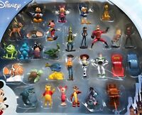 Disney Mini Figure Toy Cake Topper Mickey Toy Story Pooh Incredibles Nemo New