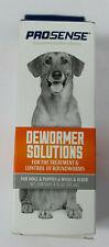 Pro-Sense Roundworm De-Wormer Liquid 4oz for Dogs NEW