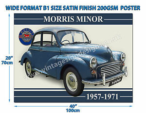 MORRIS MINOR 1000 WIDE FORMAT B1 SIZE SATIN FINISH 200GSM POSTER
