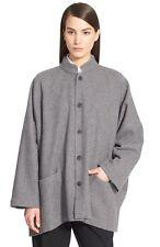 NWT Eskandar FLANNEL (GRAY) Cashmere Shadow Waffle Knit Coat (0) $2495
