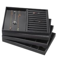 Jewelry Display Tray Ring Earring Necklace Storage Case Box Holder Organizer