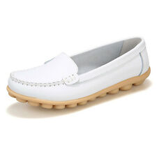 Womens Casual Flats Leather Shoes Ballet Boat Oxfords Lazy Peas Loafers Fashion
