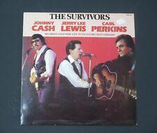 Johnny Cash, Jerry Lee Lewis, Carl Perkins VINYL LP les survivants, EX +
