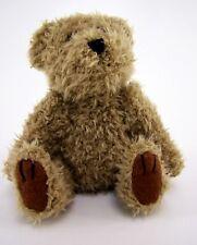 Kuscheltier Plüschtier Teddy braun mit süßem Gesicht sitzend ca. 16 cm