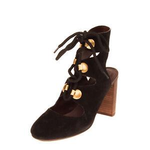 RRP €350 SEE BY CHLOE Suede Leather Booties EU 38.5 UK 5.5 US 8.5 Heel Cut Out