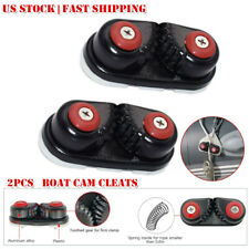 2PCS Boat Cam Cleat Canoe Sailing Boat Plastic Cam Cleat Fast Entry For Sailboat