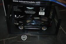 ASTON MARTIN V12 VANQUISH gloss black Autoart SUPERB 1/18 SEE INFO
