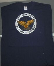 VINTAGE IRON-ON NEW T-SHIRT L -LARGE TREASURY DEPT. NARCOTICS DIVISION