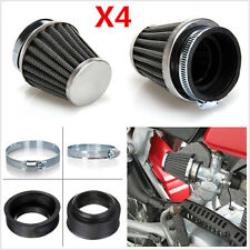 4Pcs 50mm Inlet Air Intake Tapered Air Filter Cleaner For Racing Car Motorcycle