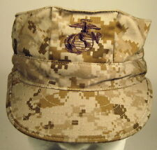 USMC Marine Corps MARPAT Desert 8 Point Garrison Hat Cap Cover W/ EGA  Ver 2