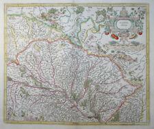 MERCATOR HONDIUS FRANKREICH ALSATIA INFERIOR ELSASS STRASBOURG RHEIN 1633