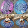 Mandala Strandtuch Rund Blumen Wandteppich Tapisserie Wandbehang Yoga Matte Deko