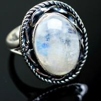Rainbow Moonstone 925 Sterling Silver Ring Size 8.25 Ana Co Jewelry R996826F