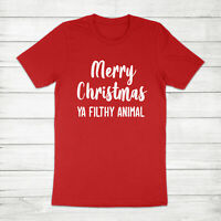 Merry Christmas Ya Filthy Animal Holiday Home Alone Kevin Unisex Tee T-Shirt