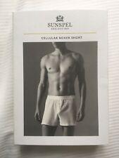 Sunspel Cellulaire Coton Boxer court blanc taille XL BNWT