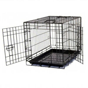 """Heavy duty 36"""" Folding Pet Dog Puppy Cat Training Cage Crate Carrier UKES"""