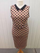 Womens Dorothy Perkins Dress - Uk16 - Polka Dot - Great Condition