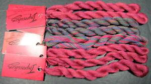 8x Needlepoint/Embroidery THREAD CARON Overdyed Impressions 1ply silk/wool-NJ4