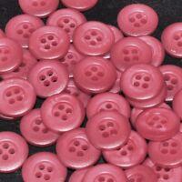 mercerie lot de 5 boutons coloris rose foncé 15mm button