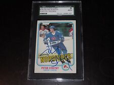 PETER STASTNY AUTOGRAPHED 1981-82 O-PEE-CHEE ROOKIE CARD-SGC SLAB-ENCAPSULATED