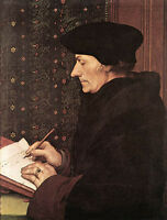 Art oil painting Holbein Hans - Male portrait Erasmus canvas