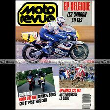 MOTO REVUE N°2855 HONDA NTV 650 KAWASAKI GPZ 500 S YAMAHA 1200 VMAX DINOJET 1988