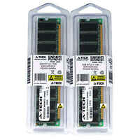 Atech 2GB Kit Lot 2x 1GB DDR Desktop PC3200 3200 400 400mhz 184-pin Memory Ram