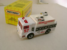 1993 MATCHBOX SUPERFAST MB 57 MACK AUXILIARY POWER TRUCK NEW IN BOX