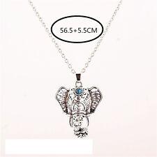 Pop Women Charm Vintage Silver Elephant Choker Pendant Chain Necklace Pretty BDA