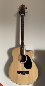 4-String Acoustic Electric Bass Guitar
