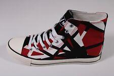 Happy Halloween Eddie Van Halen EVH Red Frankenstein High Top Shoes Size 11.5