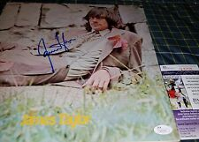 James Taylor Signed Self Titled Vinyl Album Cover in Person. JSA CERTIFIED