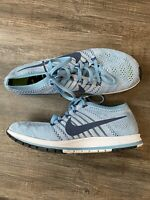Nike Flyknit Streak Running Shoes Light Blue Unisex Mens Size 11