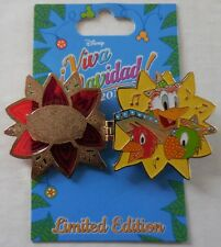 Disney Pin Dlr Viva Navidad! 2016 The Three Caballeros Stained Glass Pin Le3000