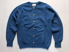 New/WILLIAM LOCKIE 100%Pure Lambswool Knit Cardigan 34 Navy Womens