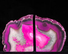 10Lbs Agate Bookends Geode Crystal Polished Quartz Druzy Brazil Specimen